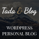 Tada & Blog - Personal Blog WordPress Template - ThemeForest Item for Sale