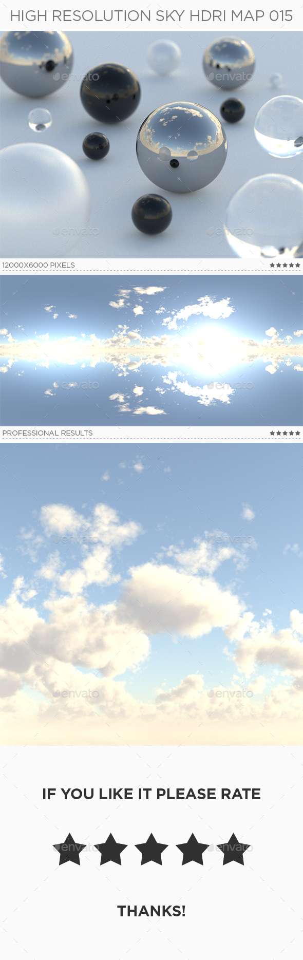 High Resolution Sky HDRi Map 015 - 3DOcean Item for Sale