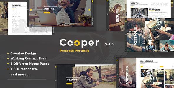 Cooper – Creative Responsive Personal Portfolio WordPress Theme