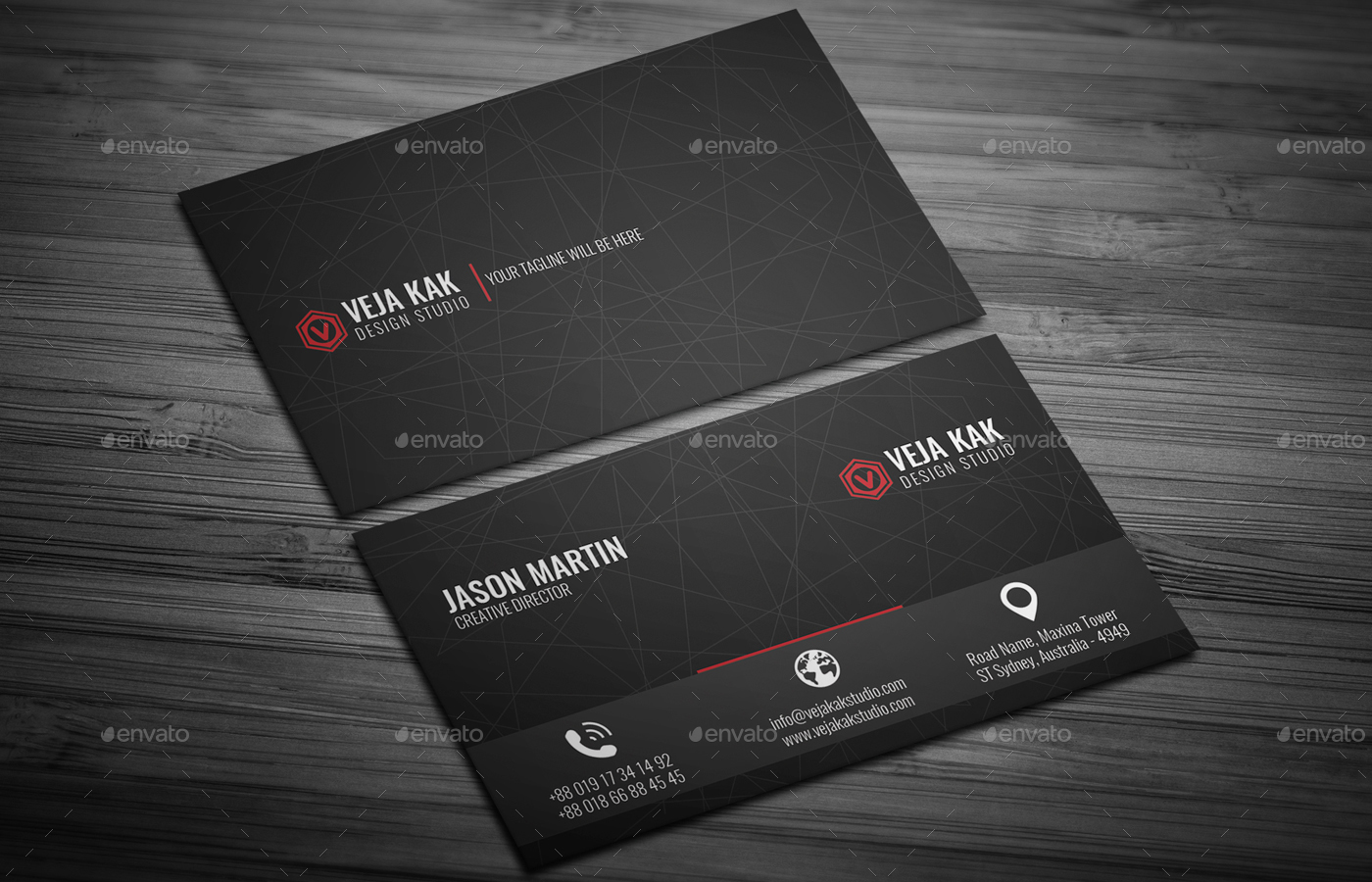 Minimal Business Card by vejakakstudio | GraphicRiver
