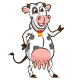 Milk Farm Cow Mascot