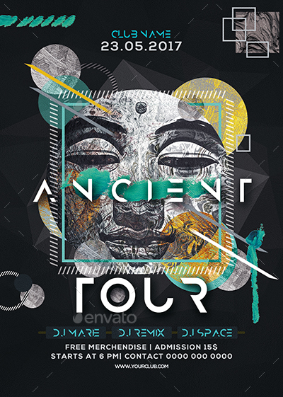 Ancient Tour Party Flyer