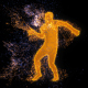 Break Dance Male Silhouette Particles Dancer - VideoHive Item for Sale
