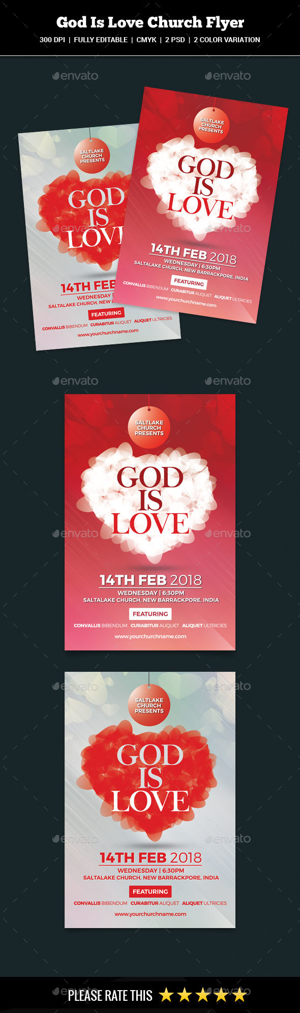 God Is Love Flyer - Church Flyers