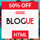 Blogue - Multi-Concept Personal Blog HTML Template - ThemeForest Item for Sale