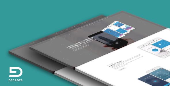 Decades – Responsive App Landing Template