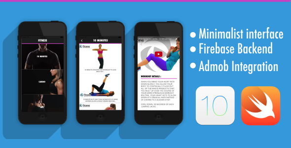 Fitness App - iOS 10 - Swift 3 - Firebase - AdMob - CodeCanyon Item for Sale