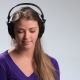 Expressive Girl in Headphones Enjoying Music - VideoHive Item for Sale