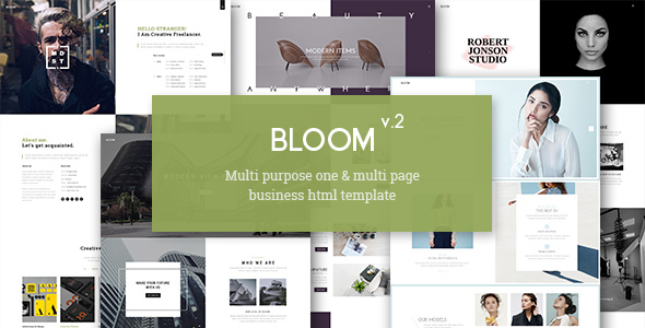 Bloom One Multi Page Business Html Template By Unionagency