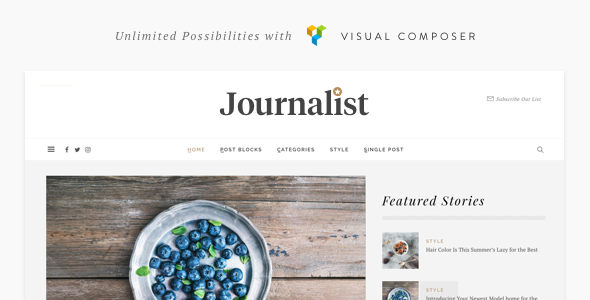 Journalist - WordPress Blog & Magazine Theme - News / Editorial Blog / Magazine