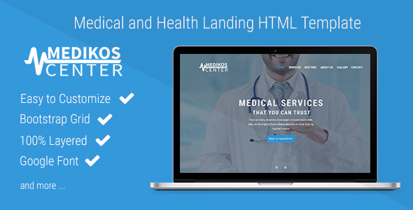 MediKos Center – Medical and Health HTML Landing Template