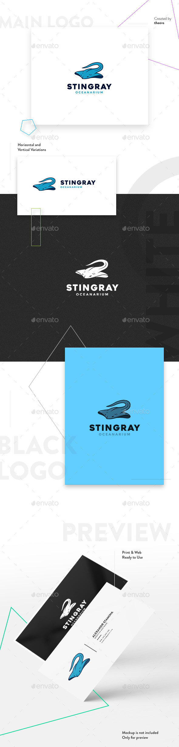 Stingray Logo - Animals Logo Templates