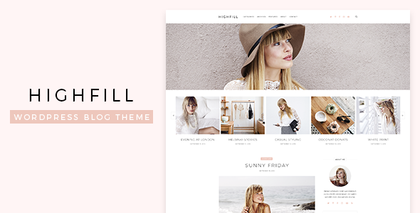 Highfill – Modern Personal WordPress Blog Theme