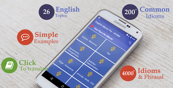 English Idioms - Android education app - CodeCanyon Item for Sale
