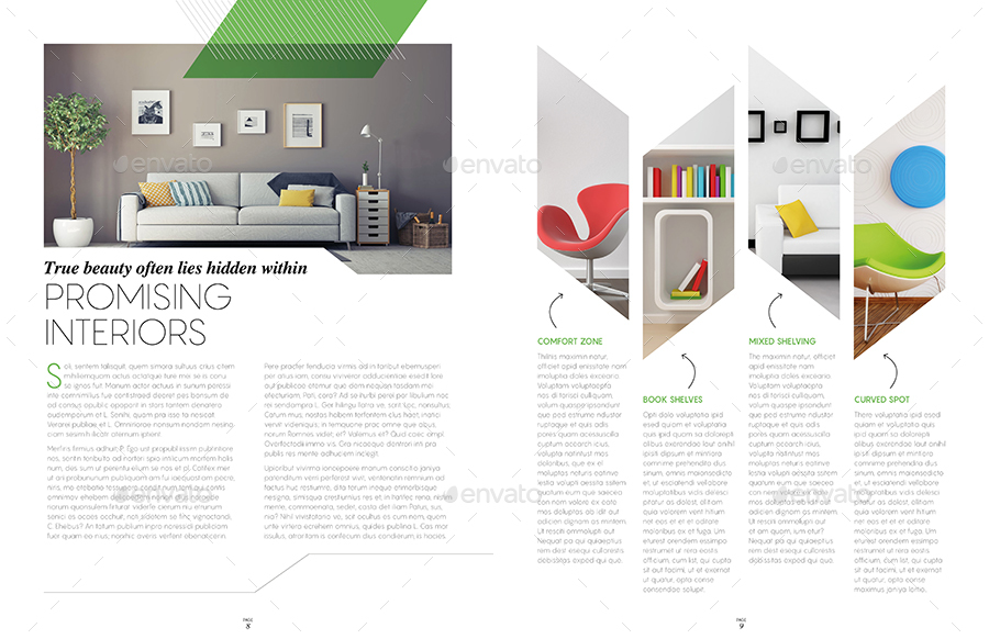 magazine template indesign 40 page layout v9 by boxedcreative graphicriver. Black Bedroom Furniture Sets. Home Design Ideas