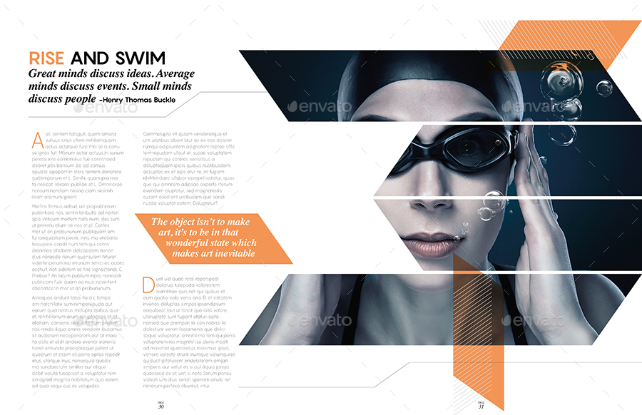 Magazine Template Indesign 40 Page Layout V9 By