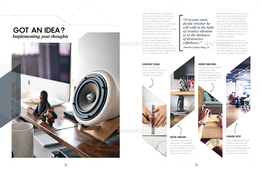 Magazine Template - InDesign 40 Page Layout V9 by BoxedCreative ...