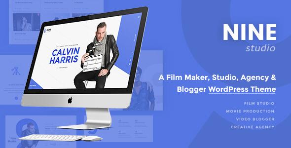 Nine Studio – A Film Maker, Studio, Agency & Blogger WordPress Theme