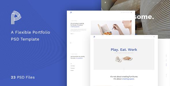 Portfolia – A Flexible Portfolio PSD Template