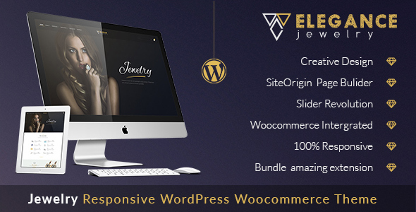Elegance - Jewelry Responsive WordPress Woocommerce Theme - Retail WordPress
