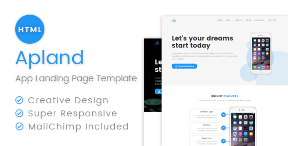 Apland – App Landing Page