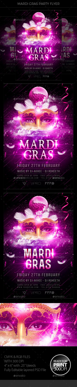Mardi Gras Party Flyer - Events Flyers