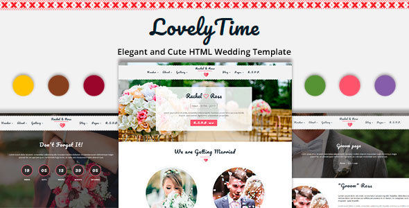 LovelyTime – Clean and Responsive HTML Wedding Template