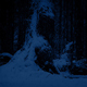 Passing Huge Old Tree In Snowfall At Night - VideoHive Item for Sale