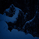 Passing Trees Buried In Snow At Night - VideoHive Item for Sale