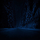 Road Through Forest In Snowfall At Night - VideoHive Item for Sale