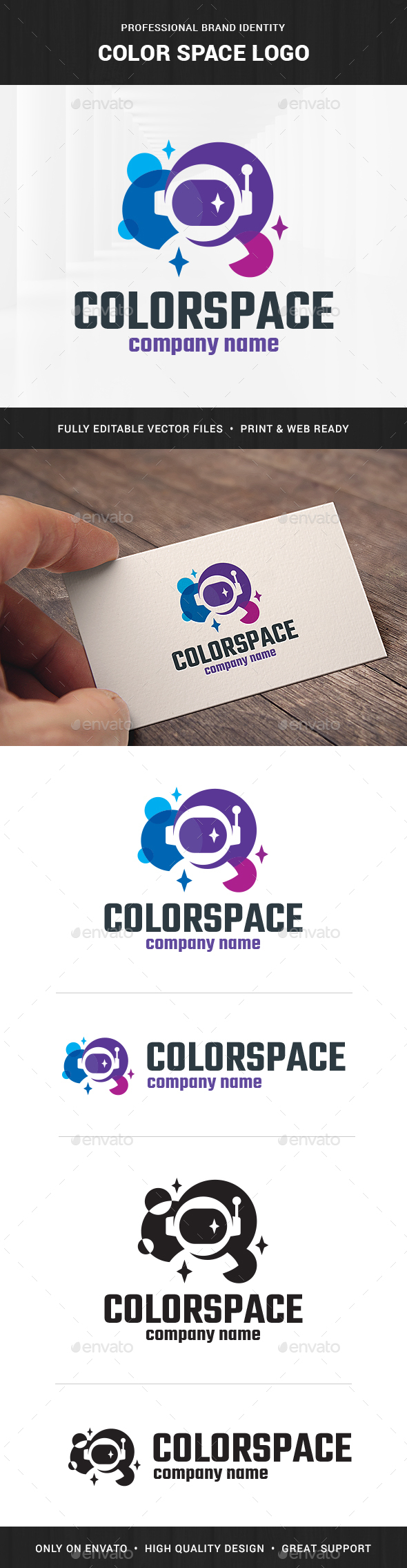 Color Space Logo Template - Objects Logo Templates
