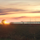 Passing Train Against Sunset - VideoHive Item for Sale