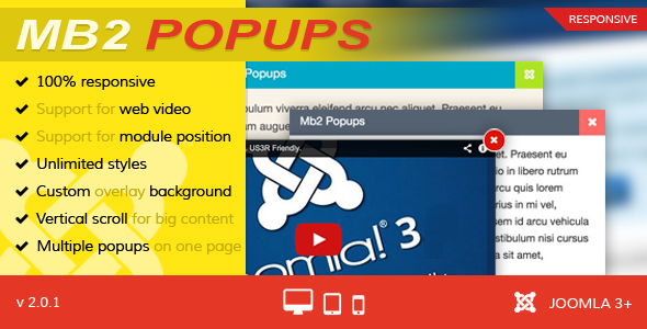 Mb2 Popups - Joomla Popup Module - CodeCanyon Item for Sale