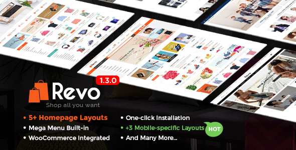 Revo – Multi-Purpose Responsive WooCommerce Theme with Mobile-Specific Layouts