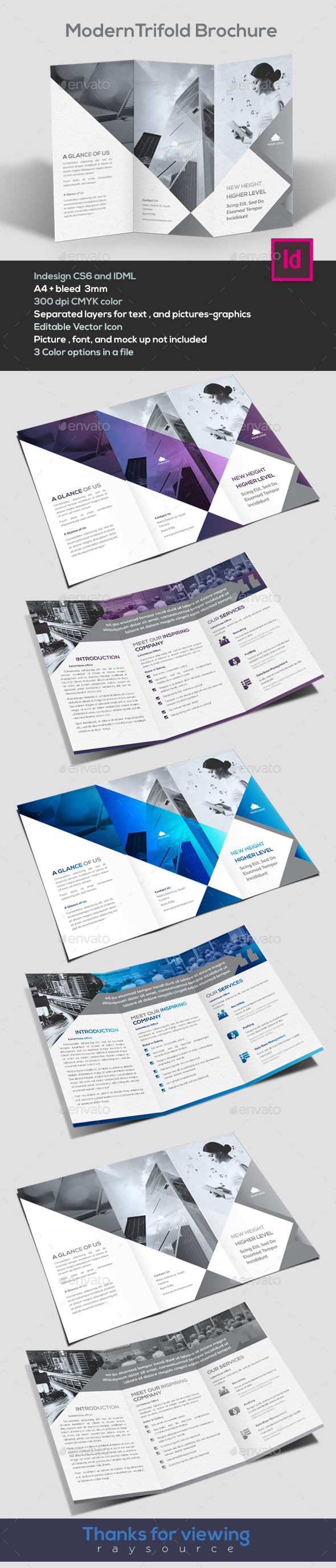 Modern Trifold brochure - Corporate Brochures