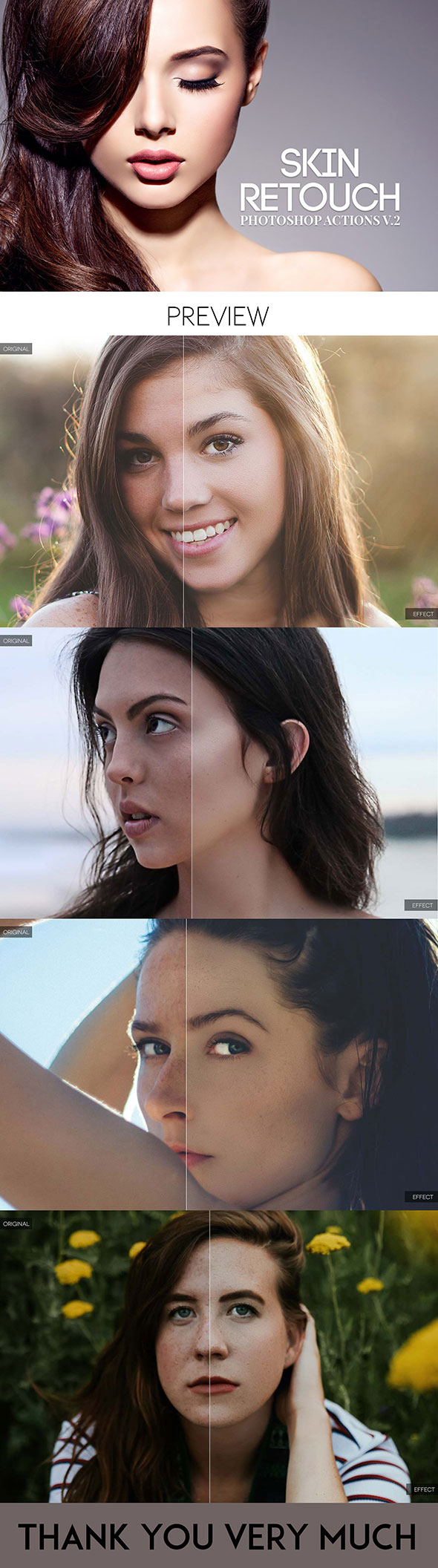 Skin Retouch Photoshop Actions Kit V.2 - Photo Effects Actions