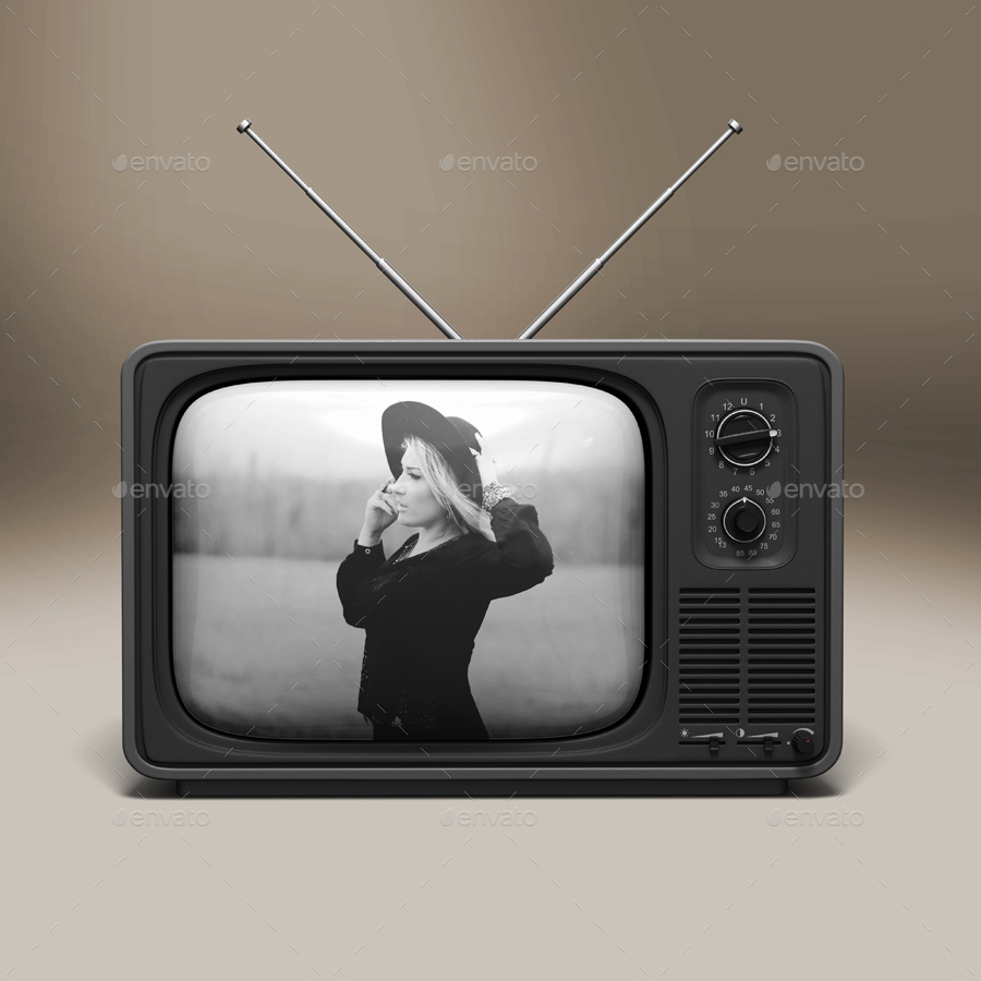 Old Tv Mock Up By Maxtecb Graphicriver