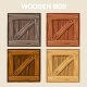Wooden Box Game Element - GraphicRiver Item for Sale