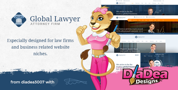 Global Lawyer - Attorney & Law Firm Agency PSD Template - Business Corporate