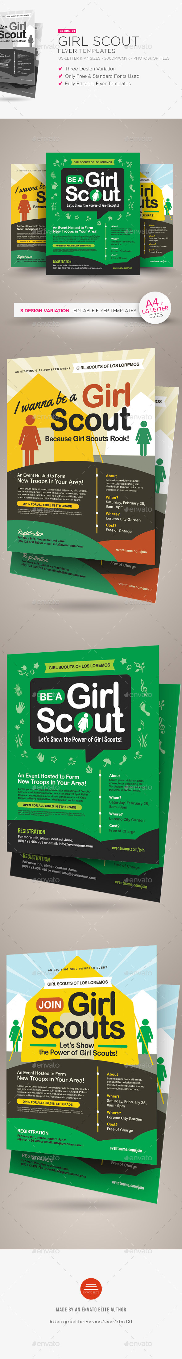 Girl scout flyer templates by kinzi21 graphicriver girl scout flyer templates miscellaneous events pronofoot35fo Image collections
