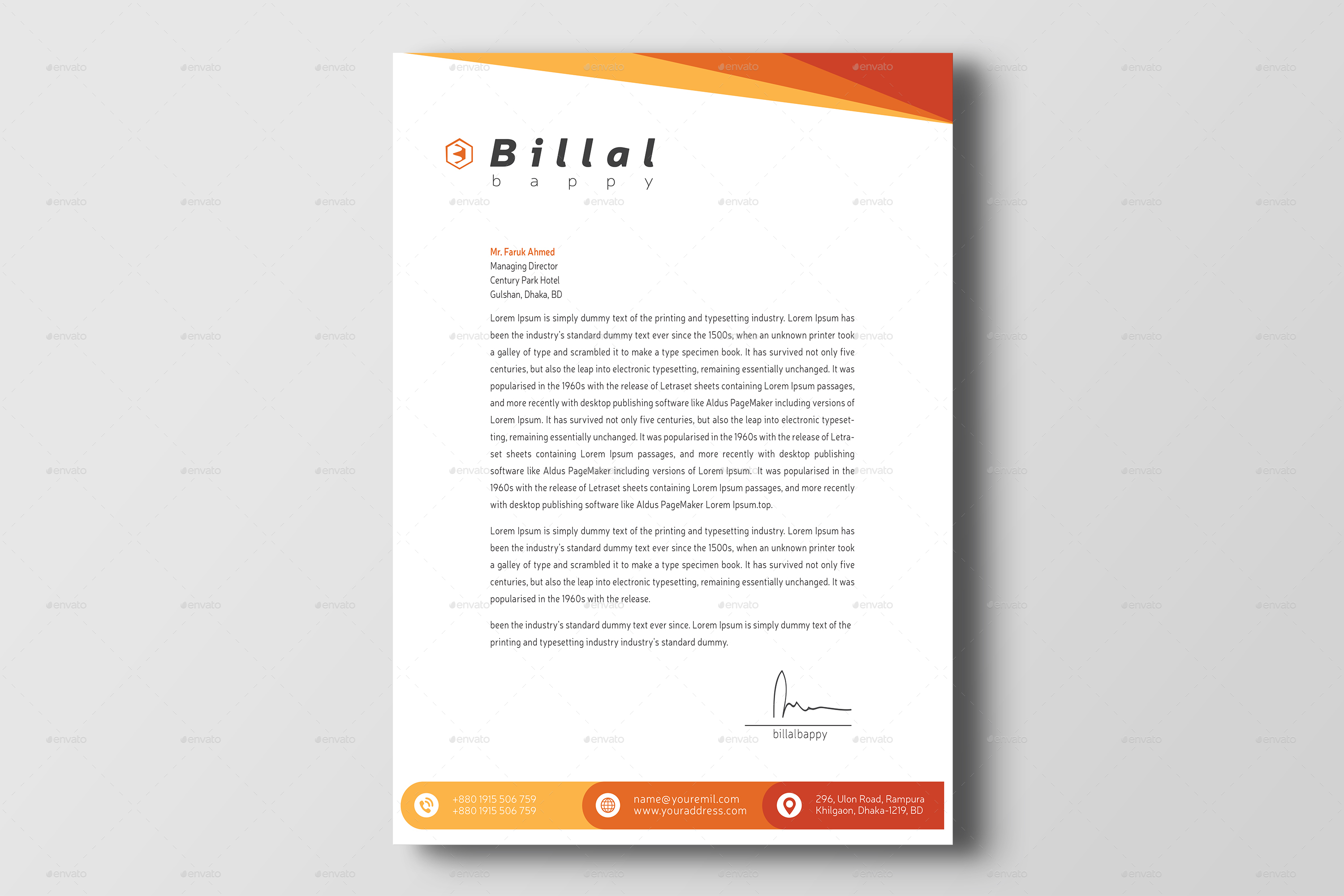 letter on letterhead corporate letterhead by billalbappy graphicriver 23106 | Letterhead%202