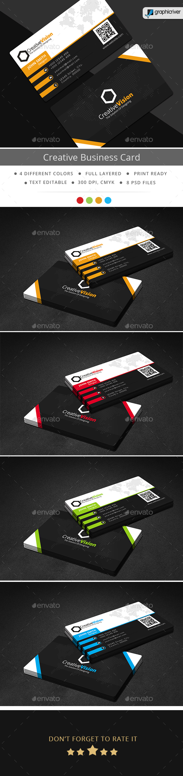 Creative Vision Business Card - Business Cards Print Templates