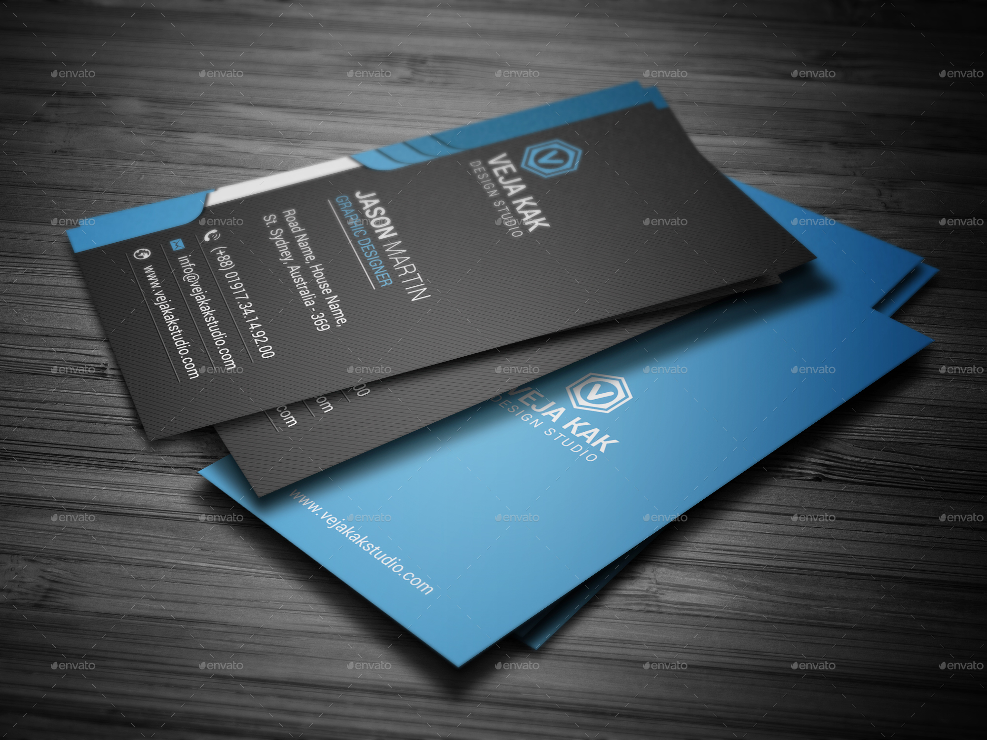 Smart Business Card by vejakakstudio | GraphicRiver
