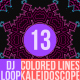 Colored Lines Kaleidoscope Dj Loop V13