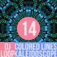 Colored Lines Kaleidoscope Dj Loop V14
