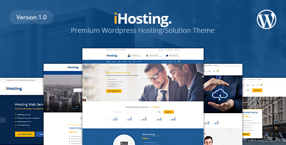 iHosting – WHMCS Hosting, Business WordPress Theme