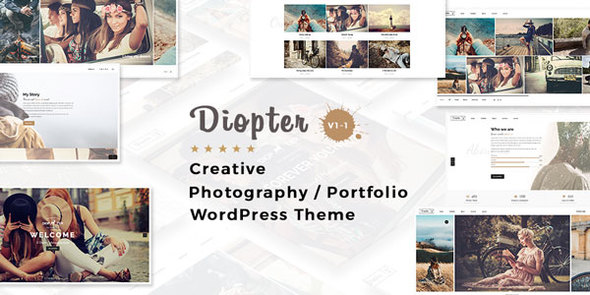 Diopter - Creative Responsive Photography / Portfolio WordPress Theme