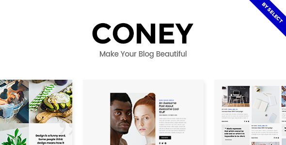 Coney - A Trendy Theme for Blogs and Magazines