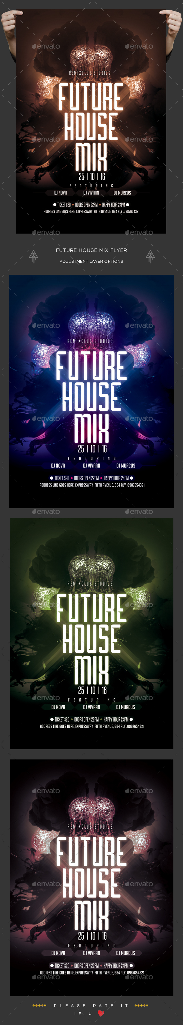 Future House Mix Flyer - Clubs & Parties Events