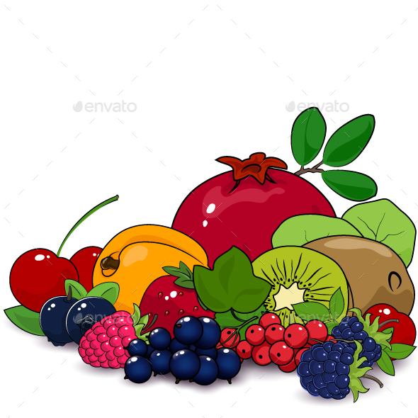 Summer Fruits and Berries - Food Objects